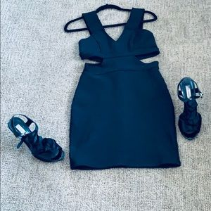 Tobi Bodycon Cutout Dress Black